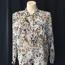New Jeans by Buffalo Large Blouse Black Yellow Blush Pink Floral Pocket Shirt  Photo