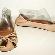 New Jeffery Campbell Pale Rose Leather Ballet Flats Sz 7.5 Photo