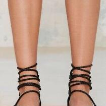 New Jeffrey Campbell Black Strappy Sandals 7.5 Photo