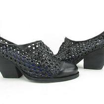 New Jeffrey Campbell Black Woven Leather Mules Women's Sz 7.5m Photo