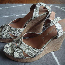 New Jeffrey Campbell Cork Wedge Sandals Size 10 Photo