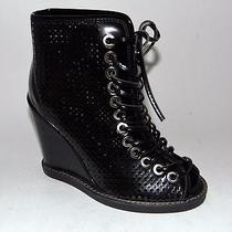 New Jeffrey Campbell Cors Style Lace Up Wedge Bootie Sandal 5.5 Photo