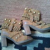 New Jeffrey Campbell Cowboy Leather Boots Size 6 Photo