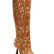New Jeffrey Campbell Entity Genuine Calf Hair Knee High Boot Women Size 7 360 Photo