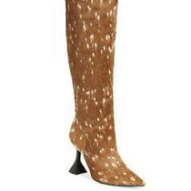 New Jeffrey Campbell Entity Genuine Calf Hair Knee High Boot Women Size 6.5 Photo