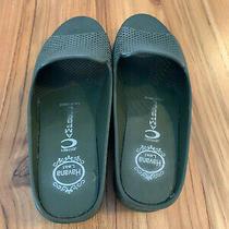 New Jeffrey Campbell Fling-2 Slide Wedge Sandal Green Rubber Women Size 6 Photo