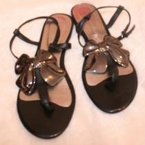 New Jeffrey Campbell From Nordstrom Sandal Flat Black Bow Nwot 9 Women Shose Photo