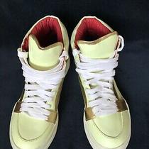 New Jeffrey Campbell High Top Tronic Glow Gold Leatherpu Sneaker Shoes sz7.5 Photo