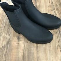 New Jeffrey Campbell Hydra Platform Waterproof Chelsea Bootie Black Matte Sz 10 Photo