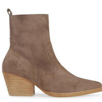 New Jeffrey Campbell Kelam Booties 9.5 Taupe Suede Photo