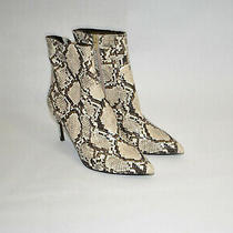 New Jeffrey Campbell Khalees Snake Embossed Pointy Toe Bootie Size 8 Msrp 170 Photo