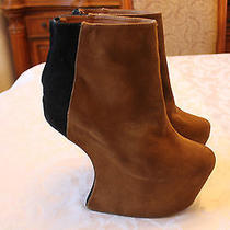 New Jeffrey Campbell Moon Boots Womens Platform Ankle Booties Brown Size 10  Photo