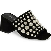 New Jeffrey Campbell Perpetua Dome Stud Open-Toe Mule Black Suede Size 5 155 Photo