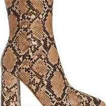 New Jeffrey Campbell Siren-3 Beige Snake Zippered Pointed Toe Boots Size 6 Nib Photo
