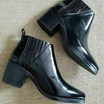New Jeffrey Campbell Weber Black Leather Heel Boots 8 Photo