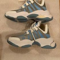 New Jeffrey Campbell Wifi Reflective Blue Silver Platform Sole Designer Sneakers Photo