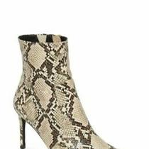 New Jeffrey Campbell Women Pointy Toe Bootie Khalees Size 9 White Snake Embossed Photo