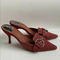 New Jeffrey Campbell Women's Suede Mule Pump Red Size 9.5 Photo