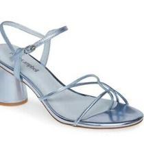 New Jeffrey Campbell Yanyu Sandal Metallic Blue 125.00 Photo