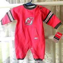 New Jersey Devils Nhl Baby One Piece Reebok Red 3-6 Months New With Tags Photo