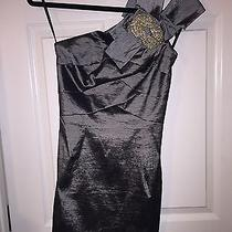 New Jessica Mcclintock Taffeta Dress One Shoulder  Photo