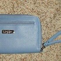 New Jessica Simpson Clutch Wallet Zip Around Wristlet Blue Super Cute  Photo
