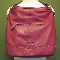 New Jessica Simpson Purse Handbag Magenta Pink Heidi Hobo Tote Bag Js4633 Photo