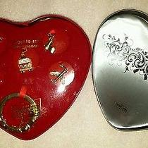 New Jetsetter Charm Key Ring Set With Swarovski Crystals Elements in Heart Can Photo