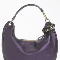 New Jimmy Choo Solar Metallic Purple Chain Cuff Hobo Bag Photo