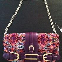New Jimmy Choo Violet Paisley Satin & Evening Bag Photo