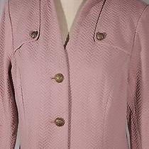 New Joan Rivers Women's Size M Medium Blush Pink Knit Blazer Jacket W/pockets Photo