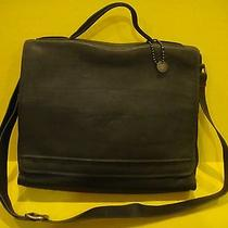 New John Varvatos Leather Messenger Briefcase Photo