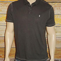 New John Varvatos Star Usa Polo Shirt in Cast Iron Size Small Nwt 100% Cotton  Photo