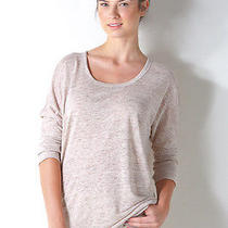 New Joie Ashlee Top Woman Sz Medium in Heather Oatmeal Brown Photo