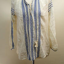 New Joie Calonice Embroidered Cotton Peasant 268 Top 1880-T1755 /multi /m. Photo