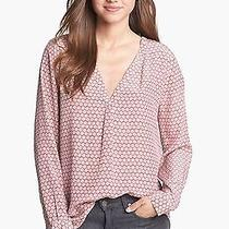New Joie Daryn Silk Blouse in Power Pink Medium Free Shipping Photo