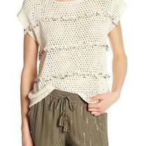 New Joie Jacinte Embellished Crochet Top Natural J504s-T5707 Women's Xs 278 Photo