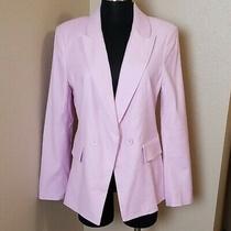 New Joie Kierra Lavender Linen Blend Blazer Jacket Size 10 Lined Photo