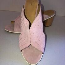 New Joie Maddalina Pink Suede Mule Sandal Sz 10 Eu40 Retail 298 Photo