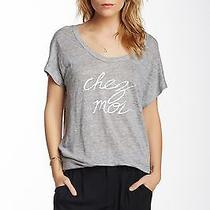 New Joie Maddie F. Linen Graphic Tee Size S  Photo