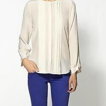 New Joie Mellea Blouse Silk Top Woman Sz Xs in New Moon Cream Photo
