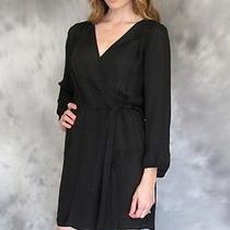 New Joie Pollini Silk Dress Woman Sz Xs in Caviar Black Photo