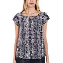 New Joie Womens Rancher Top Blouse Color Caviar 100% Silk Size S Nwt Photo