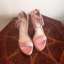 New Joseph Griffin La Collect 9.5 Blush Wedge Sandals Shoes Photo