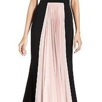 New Js Collections Black Pink Blush Womens Size 12 Pleated Maxi Dress 299 261 Photo