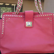 New Juicy Couture Large Coral Crystal Freya Flap Front Jeweled Leather Purse  Photo