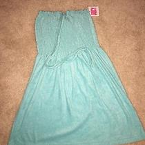 New Juicy Couture Womans  Micro Terry Smoked Dress  118 Matisse Blue Size Xs Photo