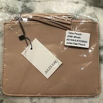 New Jules Kae Blush Vegan Leather Wristlet Clutch Pouch Photo