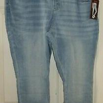 New Juniors Sz 21 High Rise Corset Jeans No Boundaries Skinny Light Blue 3xl Photo