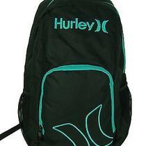 New Juniors Womens Hurley Black Teal Backpack School Book Bag Photo
